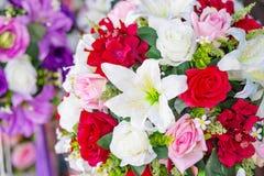Bos van bloemen zoete toon stock foto's