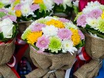 Bos van bloemenboeketten Royalty-vrije Stock Foto's
