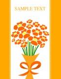 Bos van bloemenkaart Stock Illustratie