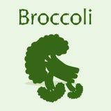 Bos van broccoli bij de lichtgroene achtergrond Stock Foto