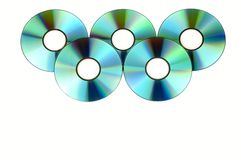 Bos van cd's stock fotografie