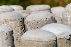 Bos van concrete polen Royalty-vrije Stock Afbeelding