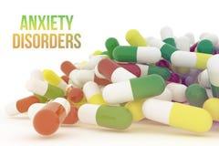 Bos van dichte omhooggaande capsules of geneeskunde Stock Foto's