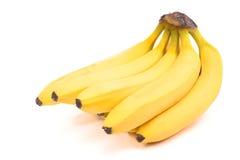 Bos van geïsoleerdeg bananen Royalty-vrije Stock Foto's