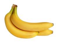 Bos van geïsoleerdeo bananen Stock Fotografie