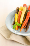 Bos van gekleurde verse wortelen royalty-vrije stock afbeelding