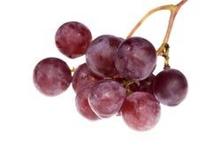 Bos van heerlijke druiven die op wit worden geïsoleerdn royalty-vrije stock afbeeldingen