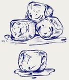 Bos van ijsblokjes Royalty-vrije Stock Afbeelding