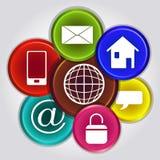 Bos van Internet pictogrammen stock illustratie
