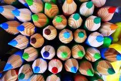 Bos van kleurenpotloden Stock Afbeelding