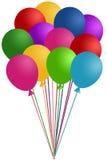 Bos van Kleurrijke Ballons Stock Foto's