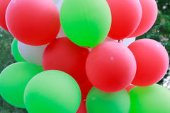 Bos van kleurrijke ballons Royalty-vrije Stock Fotografie