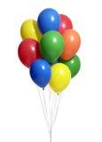 Bos van kleurrijke ballons met het knippen van weg Royalty-vrije Stock Afbeeldingen