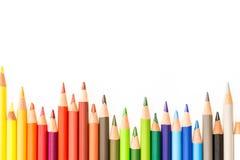 Bos van kleurrijke potloden Royalty-vrije Stock Fotografie