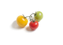 Bos van kleurrijke tomaten Stock Afbeelding
