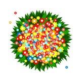 Bos van multicolored bloemen royalty-vrije illustratie
