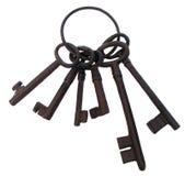 Bos van oude sleutels Stock Foto's