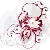 Bos van purpere bloemen vector illustratie