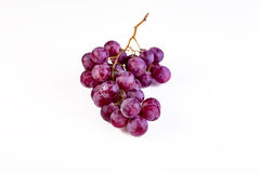 Bos van rijpe en sappige rode druiven Stock Afbeeldingen