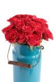 Bos van rode rozen Stock Foto's