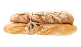 Bos van verse brood en tarweoren Royalty-vrije Stock Foto's