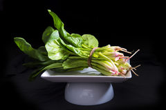 Bos van verse spinazie Stock Foto