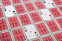 Bos van weggeknipte kaarten Royalty-vrije Stock Foto's