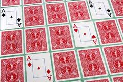 Bos van weggeknipte kaarten Stock Afbeelding