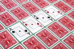 Bos van weggeknipte kaarten Royalty-vrije Stock Afbeelding