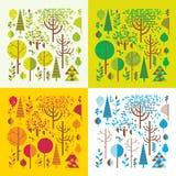 Bos in vier seizoenen Stock Afbeeldingen