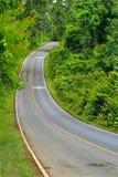 Bos weg bij Nationaal Park Khaoyai Stock Afbeeldingen