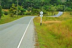 Bos weg bij Nationaal Park Khaoyai Royalty-vrije Stock Foto