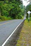Bos weg bij Nationaal Park Khaoyai Royalty-vrije Stock Afbeelding