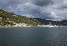 Bosa Marina, Sardinia, Włochy Zdjęcie Stock