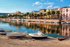 Bosa, Sardegna Imágenes de archivo libres de regalías
