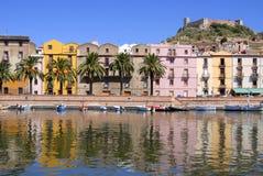 Bosa, Sardegna, Italia Immagine Stock Libera da Diritti