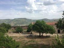 Bosa, Sardinia, Włochy widok od wierzchołka zdjęcia royalty free