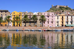 Bosa, Sardinien, Italien Lizenzfreies Stockbild