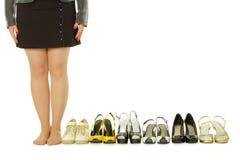 bosa udziałów butów kobieta Zdjęcia Royalty Free