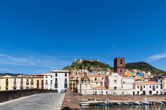 Bosa, View of the river Temo Stock Photos