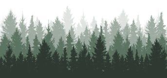 Bosachtergrond, aard, landschap vector illustratie