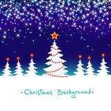 BosAchtergrond van de Winter van Kerstmis de Abstracte Stock Fotografie
