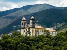 Bosatt historia i Ouro Preto (Minas Gerais - Brasilien) Arkivfoto