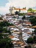 Bosatt historia i Ouro Preto (Minas Gerais - Brasilien) Royaltyfria Bilder