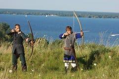 Bosatt historia medeltida Royaltyfria Bilder