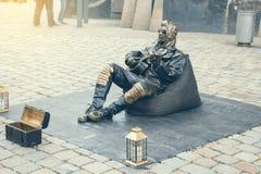 Bosatt staty, iklädd Elvis Presley för aktör dräkt 2 fotografering för bildbyråer