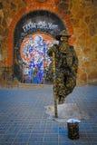 Bosatt staty på gatan Royaltyfri Fotografi