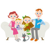 Bosatt utlänning för familj Arkivbild