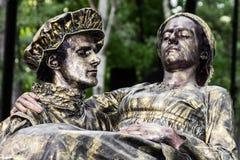 Bosatta statyer Royaltyfria Bilder