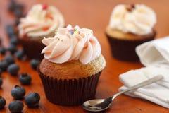 Bosbes Cupcake Royalty-vrije Stock Fotografie